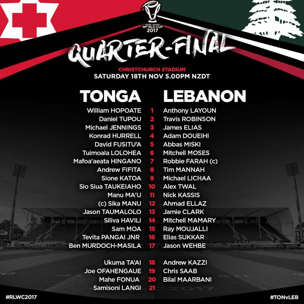compositions Tonga Liban