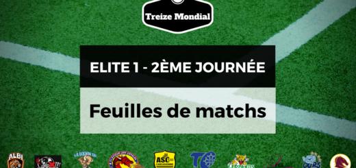 Elite 1 - Feuilles de matchs de la 2ème journée
