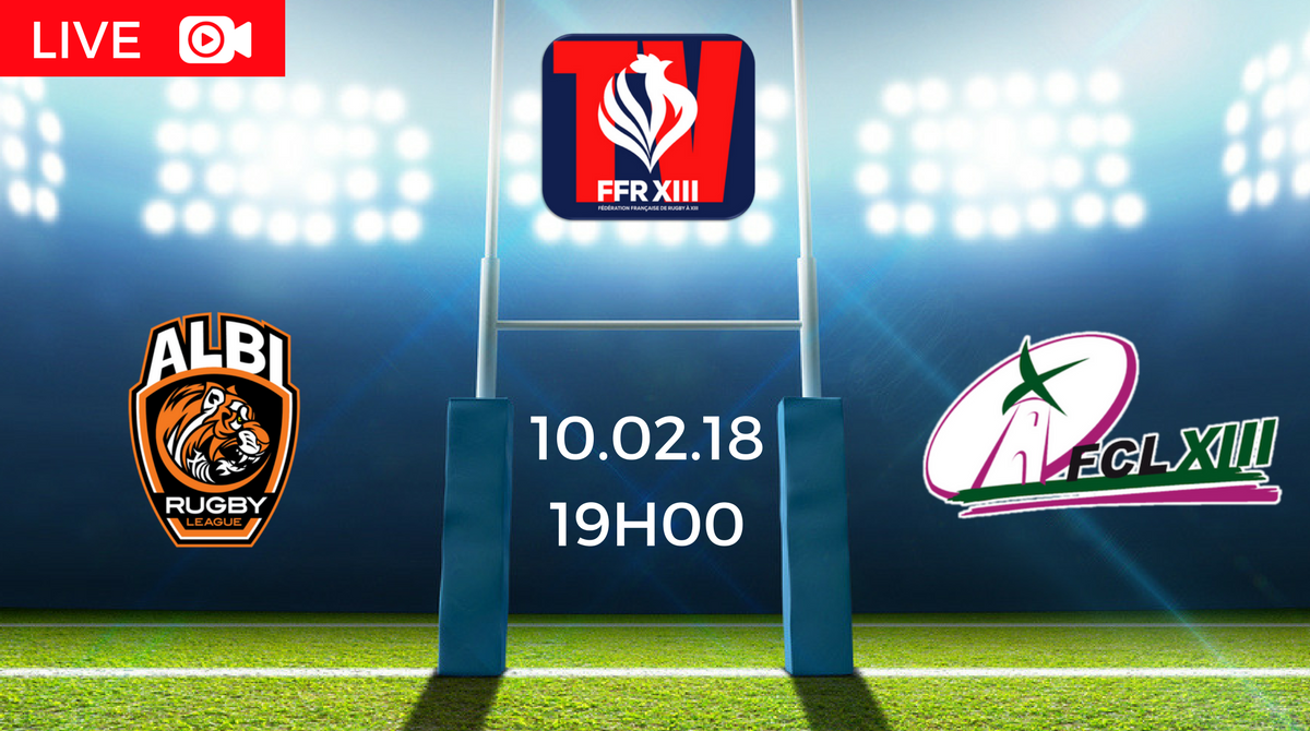 Albi Rugby League Tigers vs FC Lézignan en direct sur Treize Mondial