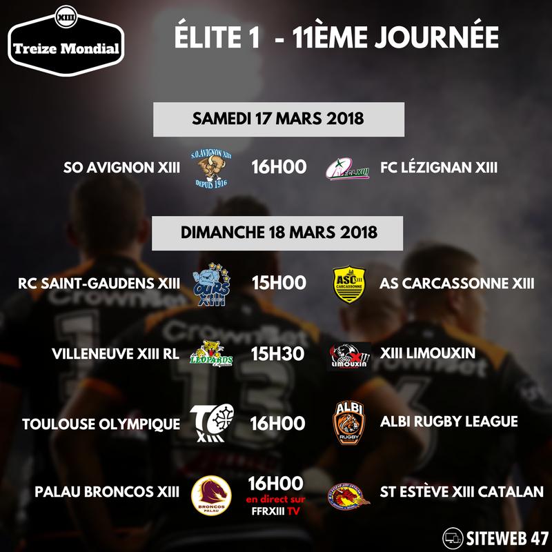 Elite 1 Programme J11