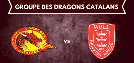 Le groupe des Dragons Catalans pour affronter Hull KR