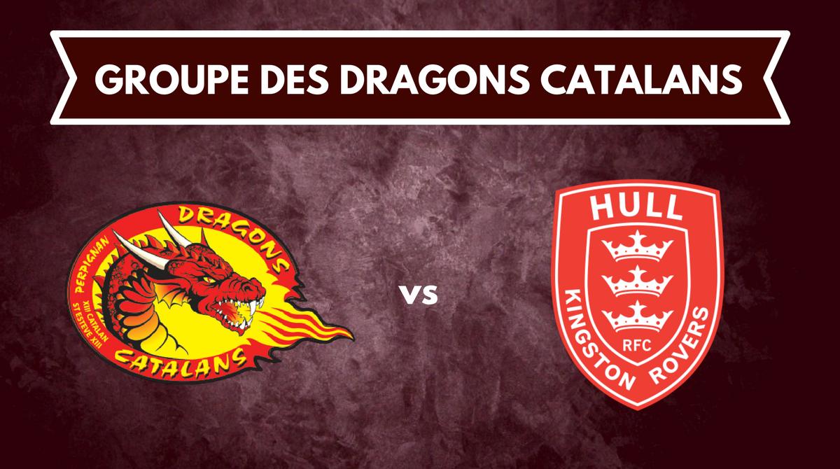 Le groupe des Dragons Catalans pour affronter Hull KR
