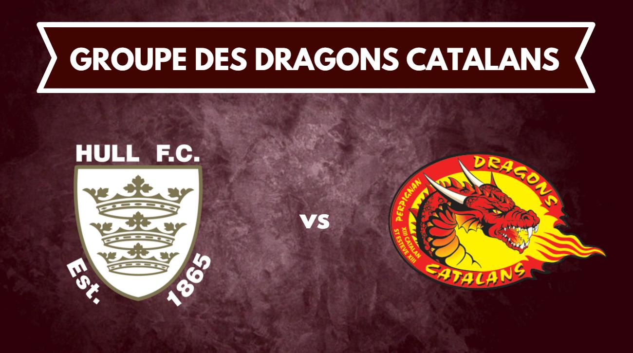 groupe des Dragons Catalans pour affronter Hull FC