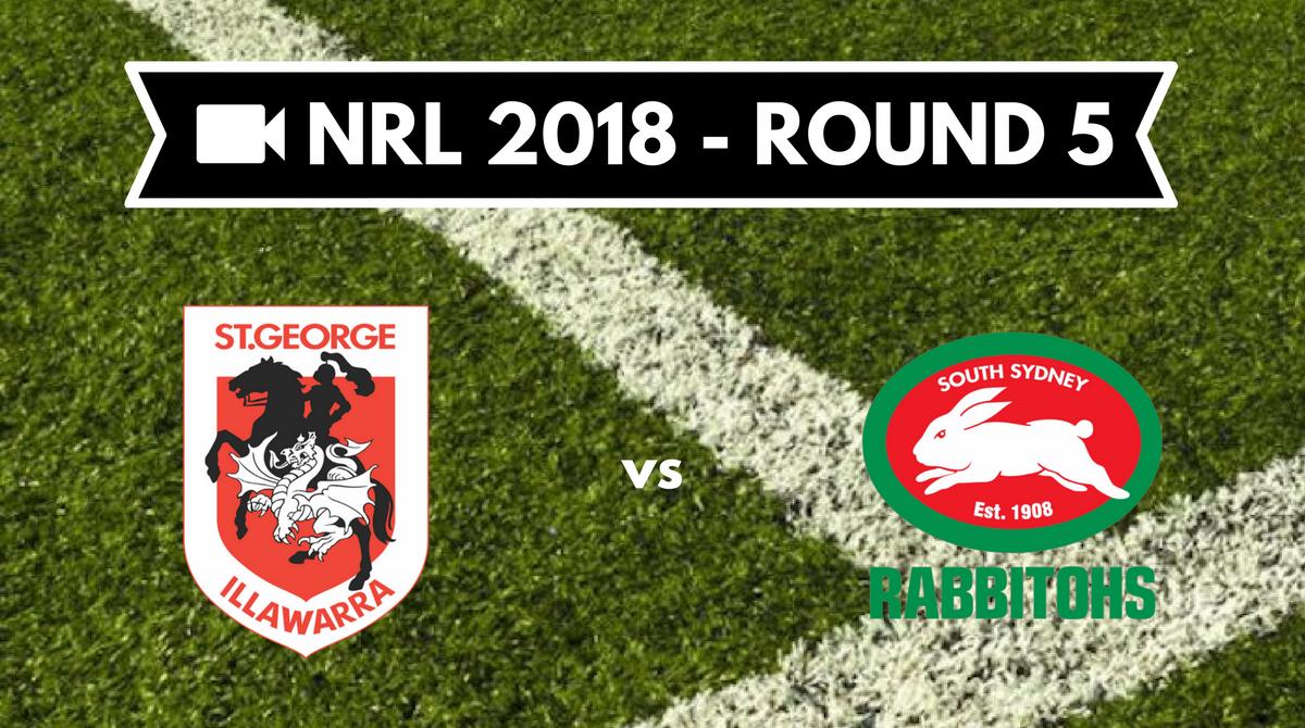 Résumé vidéo St George Illawarra Dragons vs South Sydney Rabbitohs