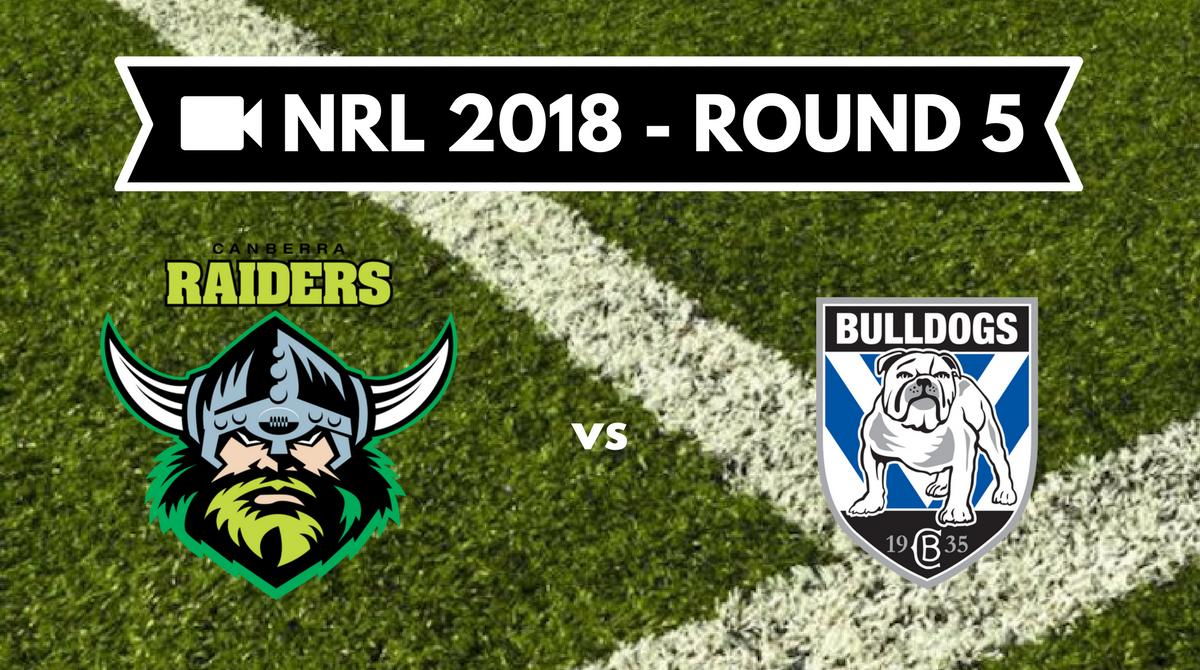 Résumé vidéo Canberra Raiders vs Canterbury Bulldogs