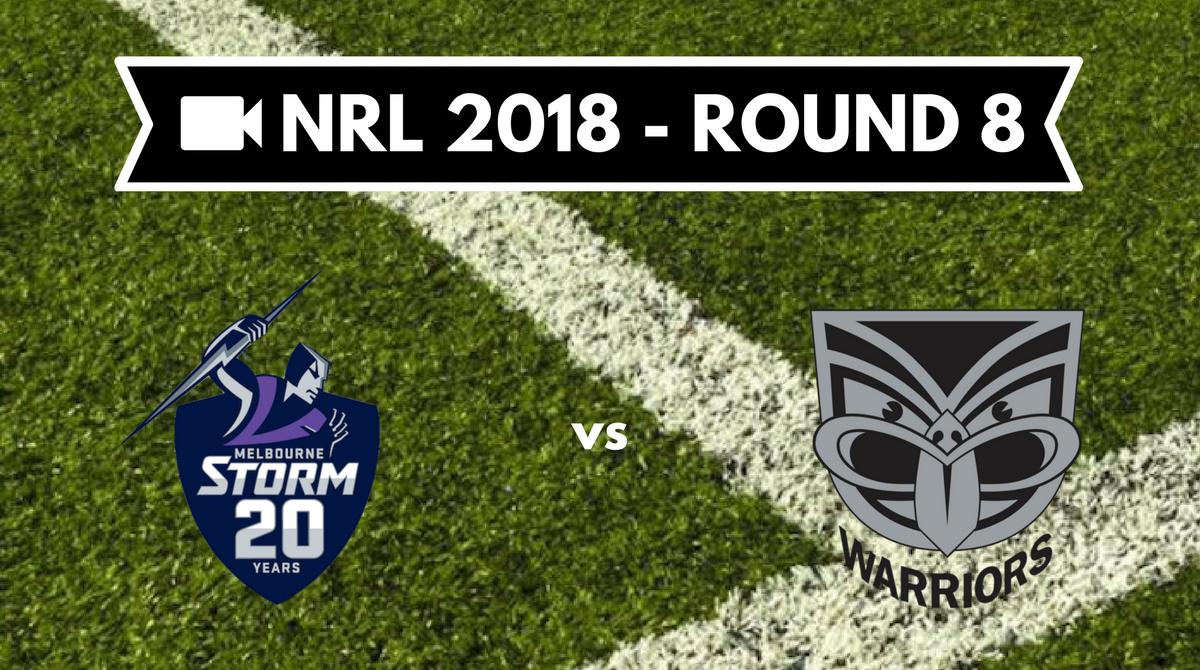 Résumé vidéo Melbourne Storm vs New Zealand Warriors