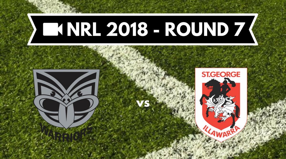 Résumé vidéo New Zealand Warriors vs St George Illawarra Dragons