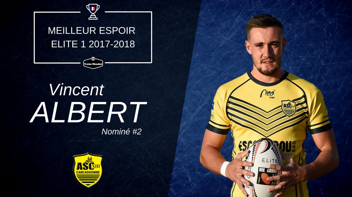 Vincent Albert - Nominé Meilleur Espoir Elite 1