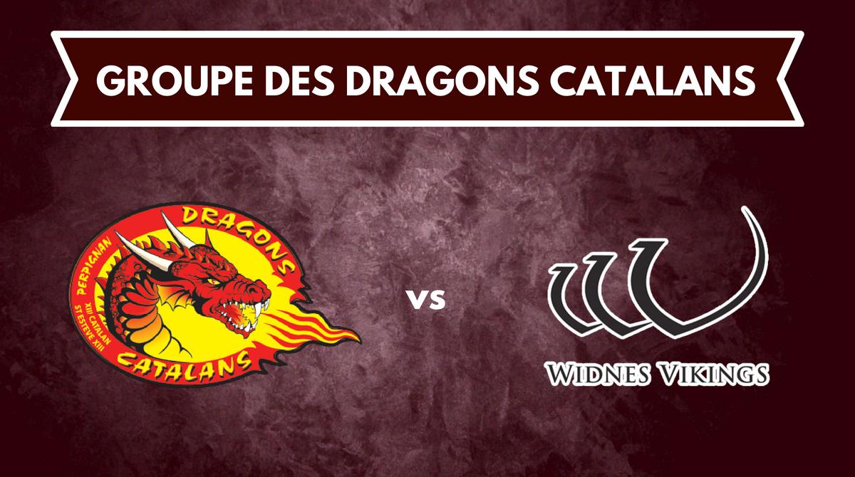 Groupe Dragons Catalans pour la réception de Widnes