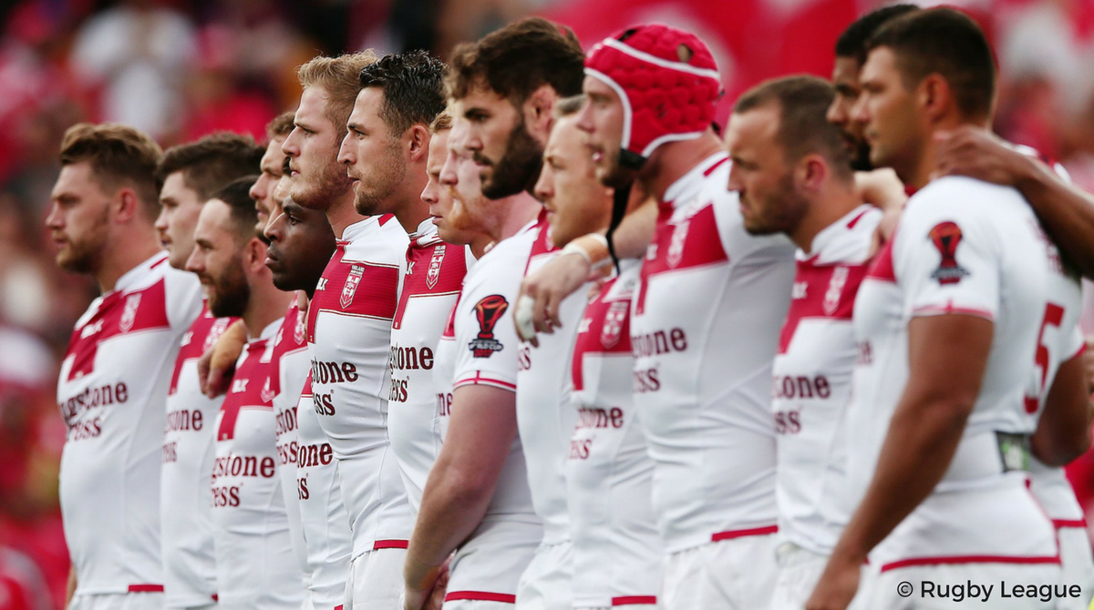 Le groupe anglais - Nouvelle-Zélande vs Angleterre