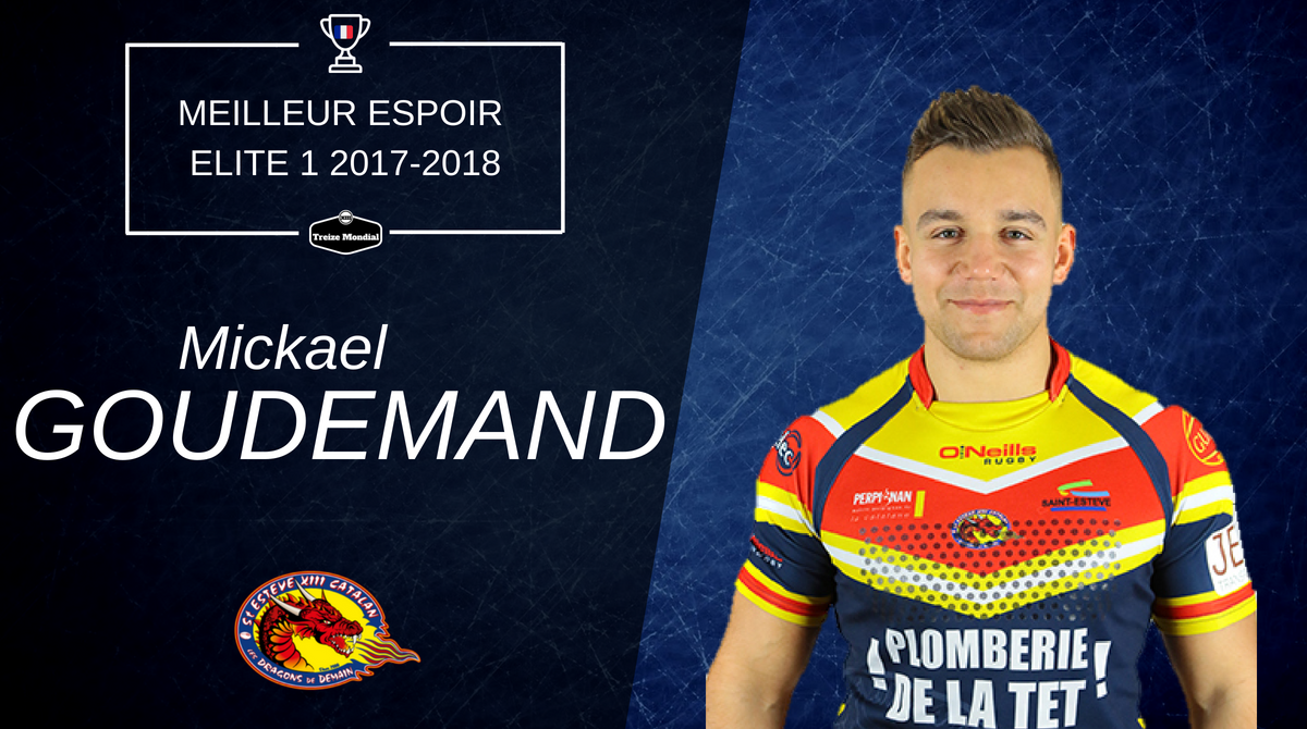 Mickael Goudemand - meilleur espoir d'Elite 1 2017-2018