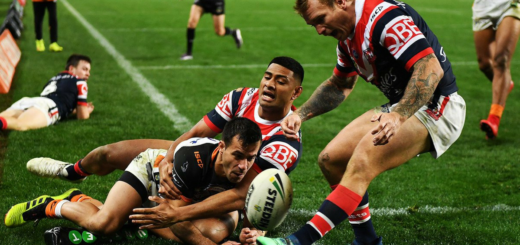 Roosters Tigers fin de match
