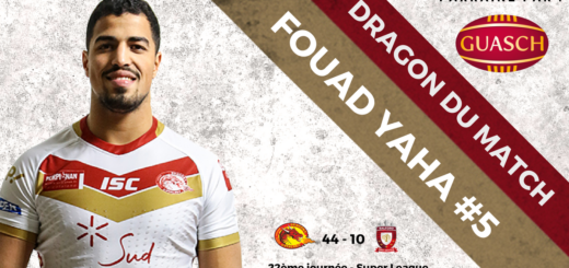 Fouad Yaha DRAGON DU MATCH vs Salford Red Devils J22