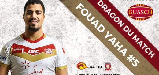 Fouad Yaha DRAGON DU MATCH vs Salford Red Devils J22