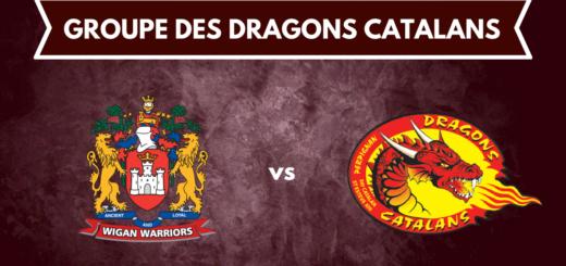 Le groupe des Dragons Catalans pour le déplacement à Wigan