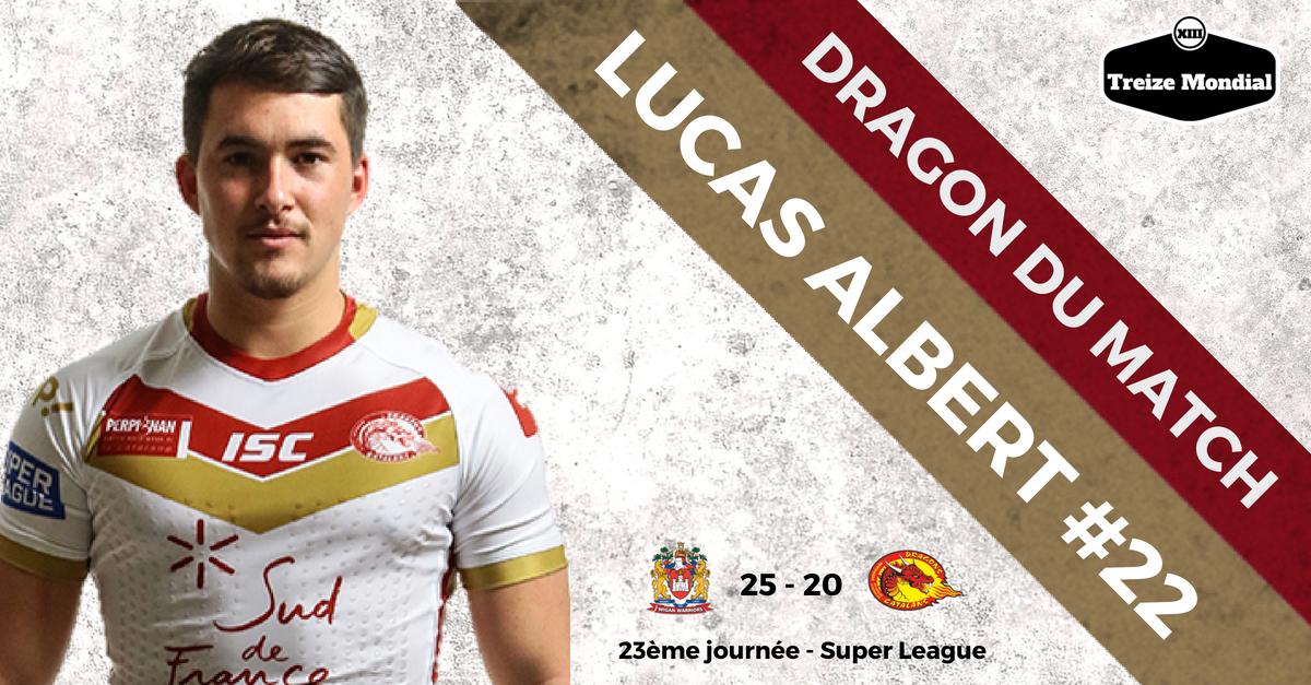 Lucas Albert élu homme du match face à Wigan