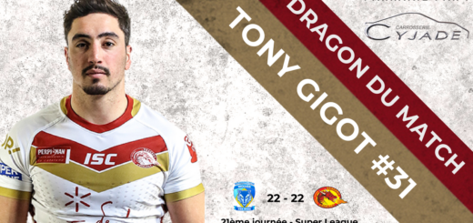 Tony Gigot Homme du match Warrington