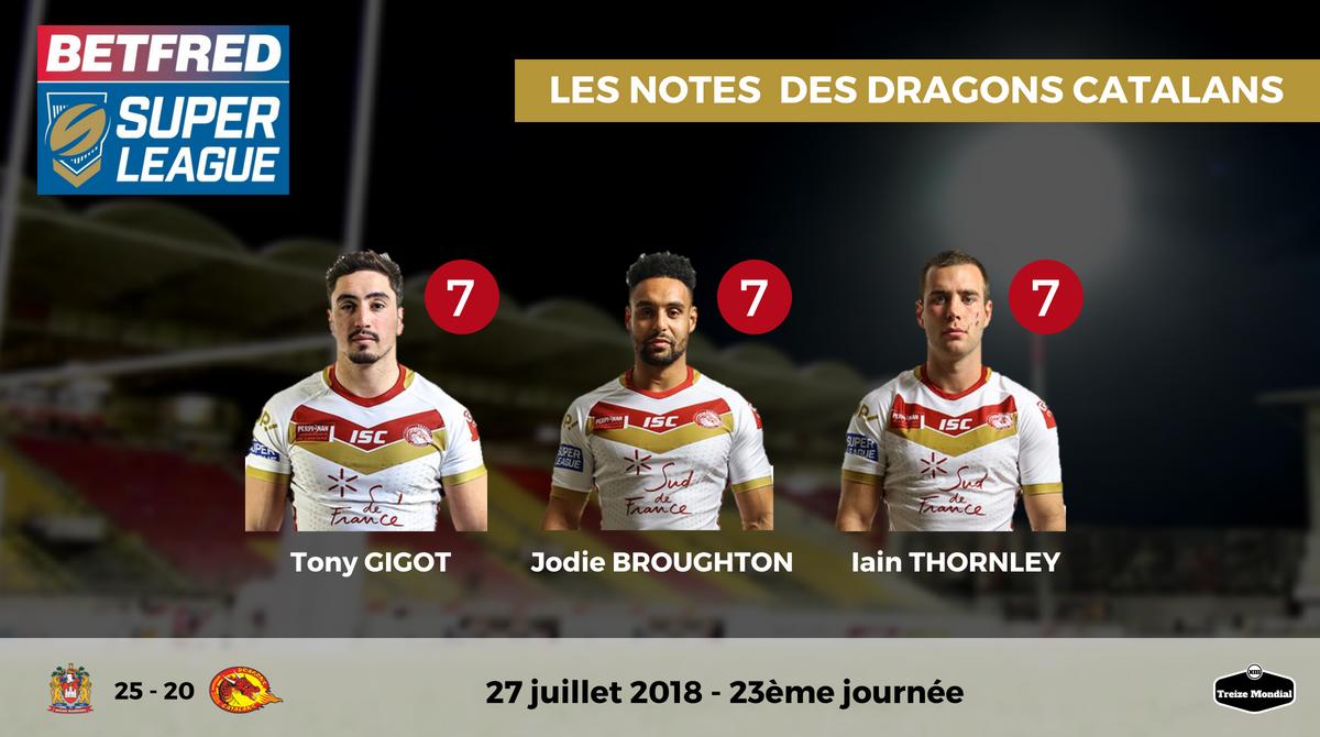 Wigan Warriors Dragons Catalans 25 20 Les Notes Des