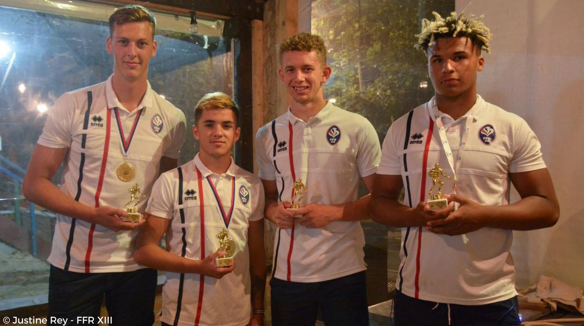 4 joueurs de l'équipe de France U19 récompensés