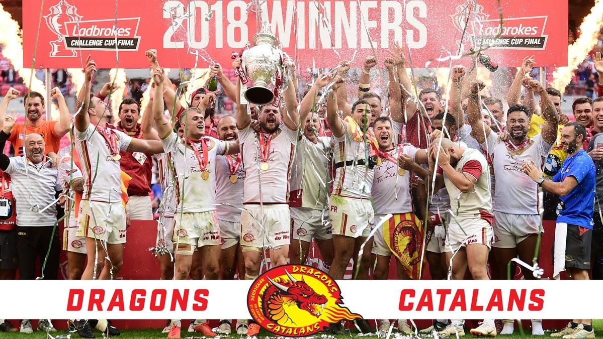 Dragons Catalans vainqueur Challenge Cup 2018