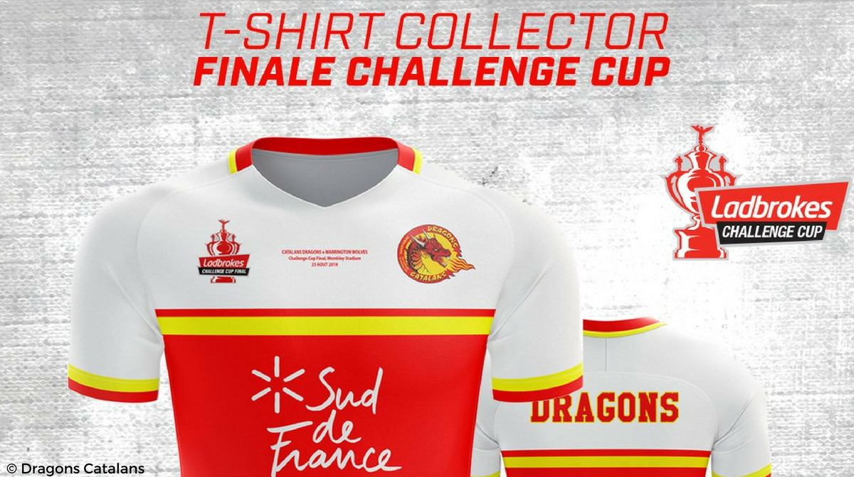 T-shirt collector Dragons Catalans finale Challenge Cup