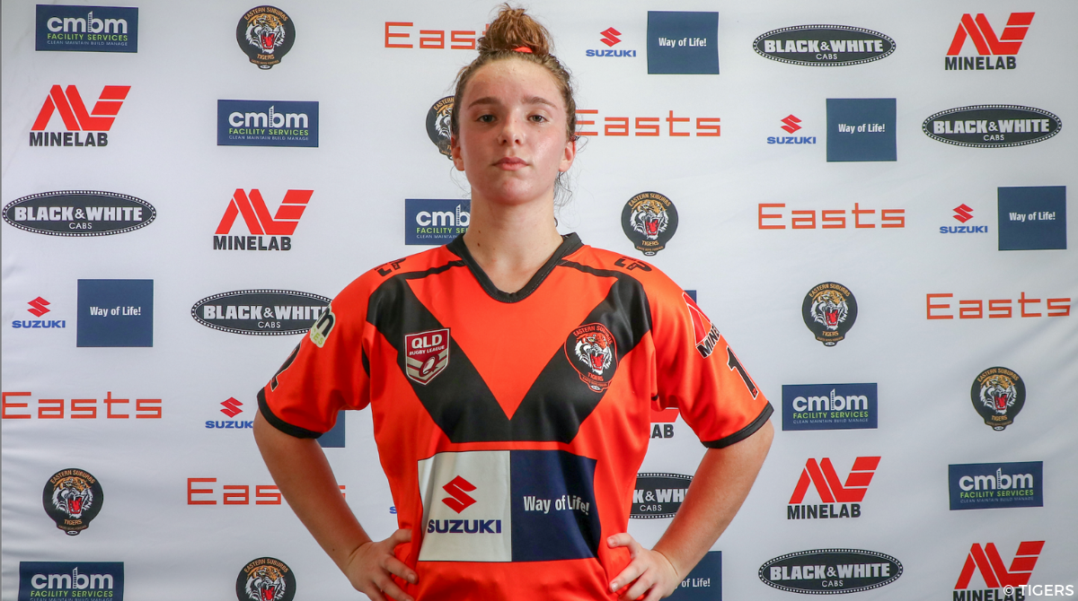 Laureane Biville Easts Tigers rugby 13 xiii league