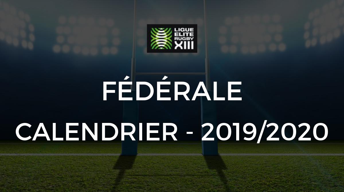 Calendrier Saison 2020.Federale Le Calendrier Federale De La Saison 2019 2020 A